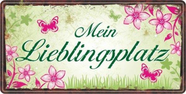 Garten Metallschild Lieblingsplatz - geschenkexpress.ch