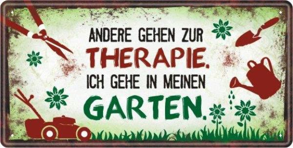 Garten Metallschild Therapie