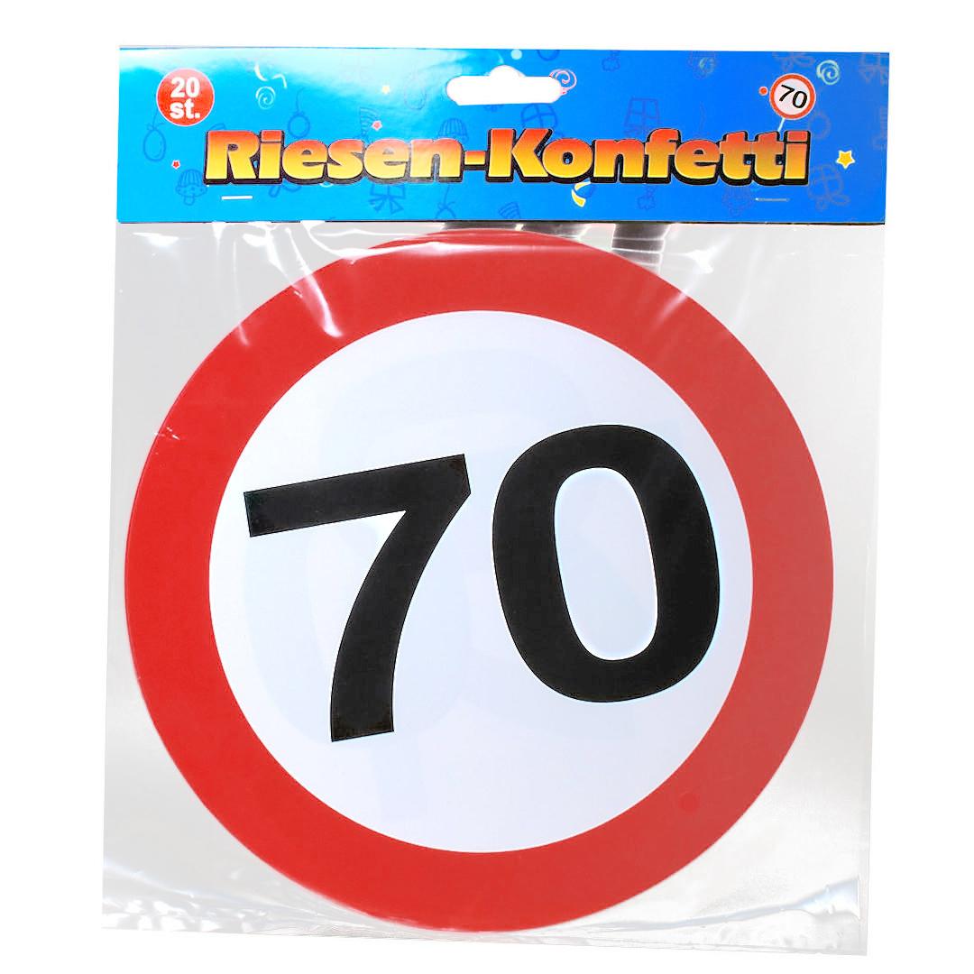 70 geburtstag riesen konfetti - 70 geburtstag dekoration ...