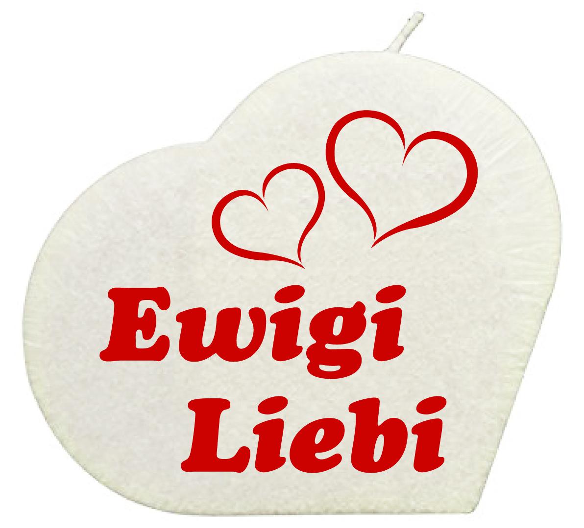 Ewigi Liebi Herzkerze Weiss Geschenkexpress Ch