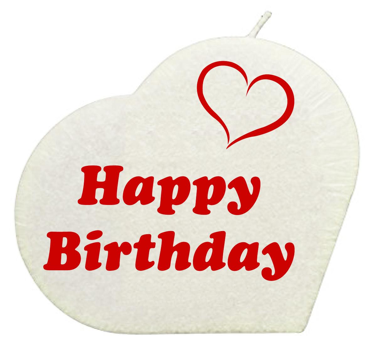 Happy Birthday Herzkerze Weiss Geschenkexpress Ch