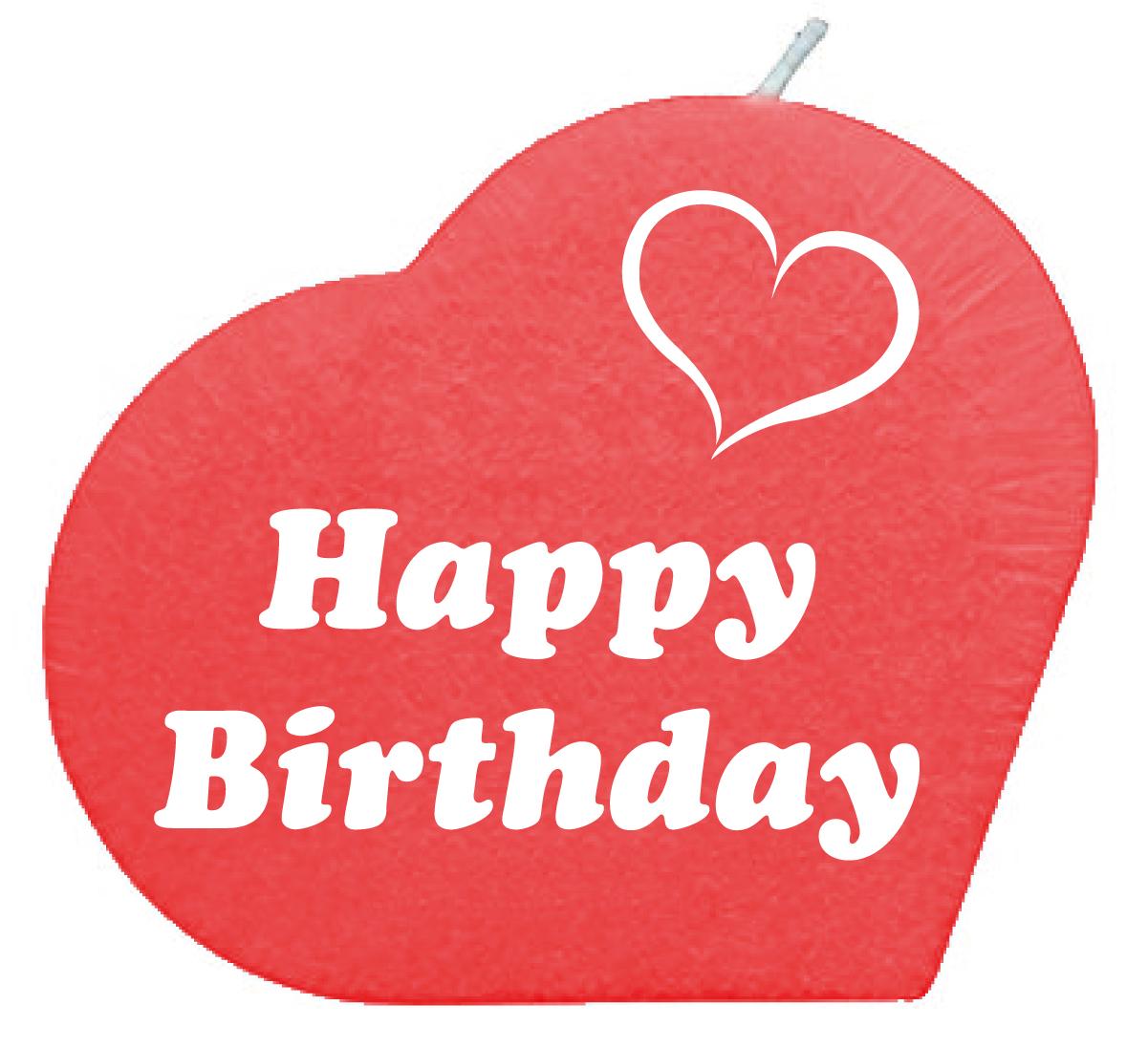 Happy Birthday Herzkerze Rot Geschenkexpress Ch
