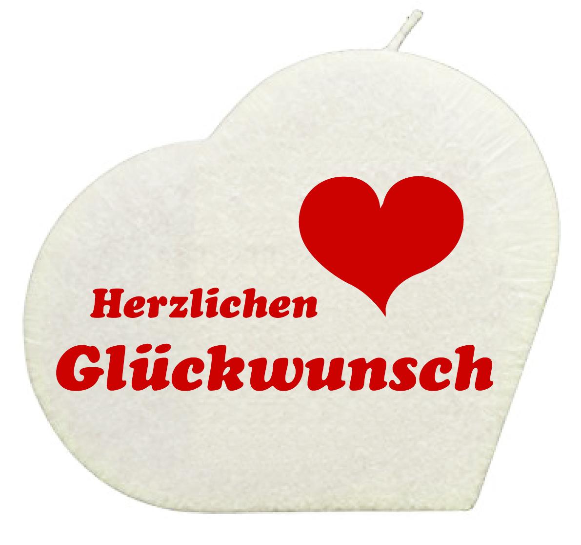 Gluckwunsch Herzkerze Weiss Geschenkexpress Ch