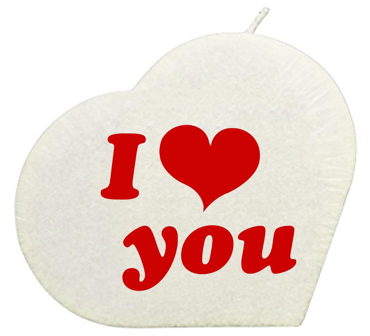 I Love You Herzkerze Weiss Geschenkexpress Ch