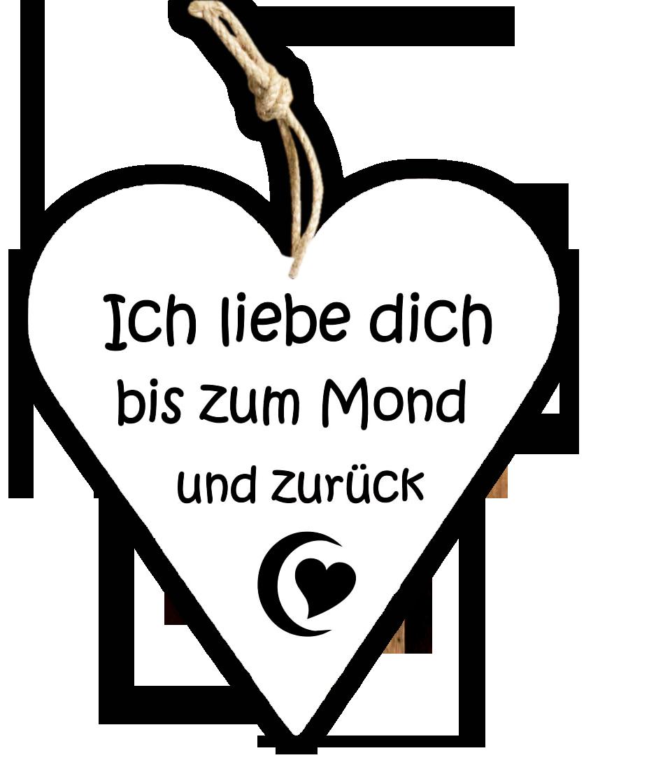 Cool Ich Liebe Dich Bis Zum Mond Foto Von Holzschild.