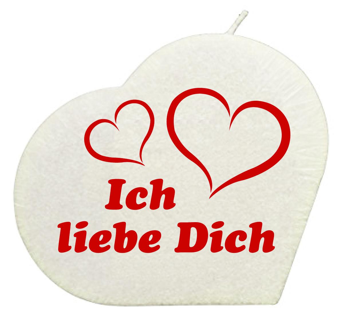 Ich Liebe Dich Herzkerze Weiss Geschenkexpress Ch