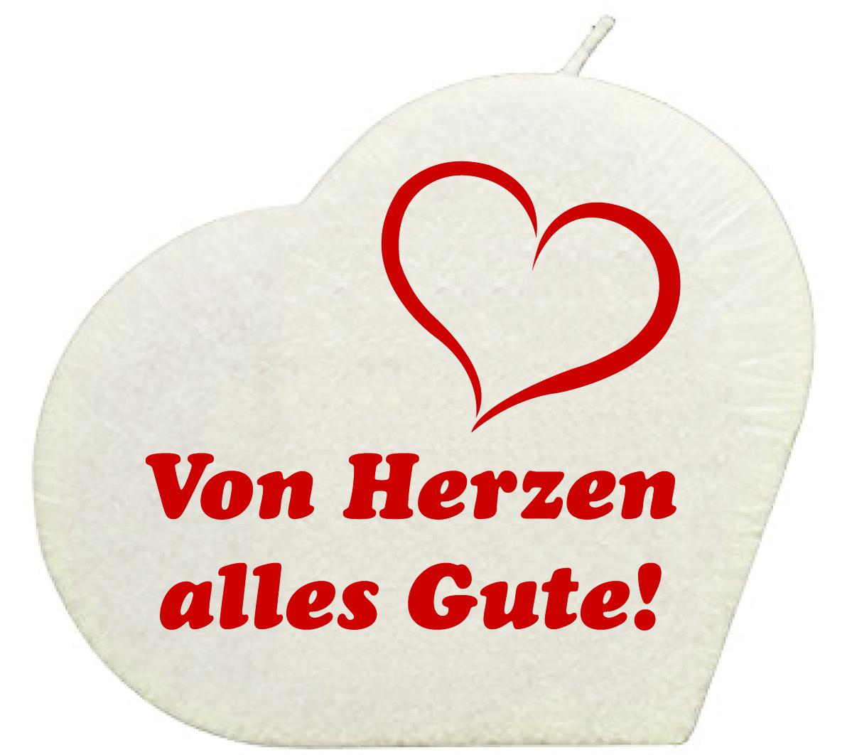 Von Herzen Herzkerze Weiss Geschenkexpress Ch