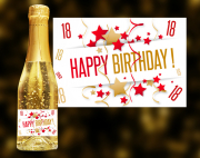 Happy Birthday 18 Goldsekt