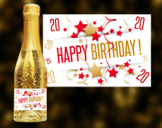 Happy Birthday 20 Goldsekt