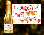 Happy Birthday 50 Goldsekt
