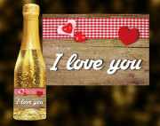I Love You Goldsekt