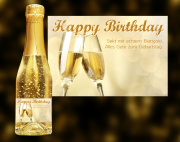Happy Birthday Goldsekt (Gläser)