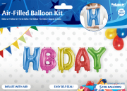 HBDAY Folienballon Set