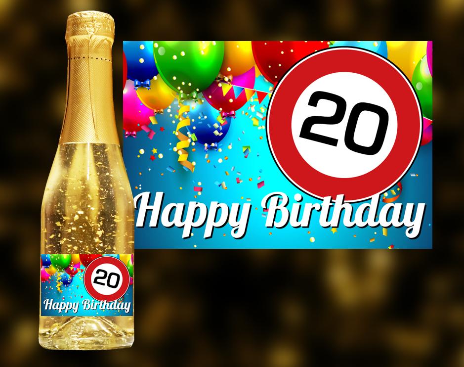 20 Geburtstag Goldsekt Carina Geschenke Ch