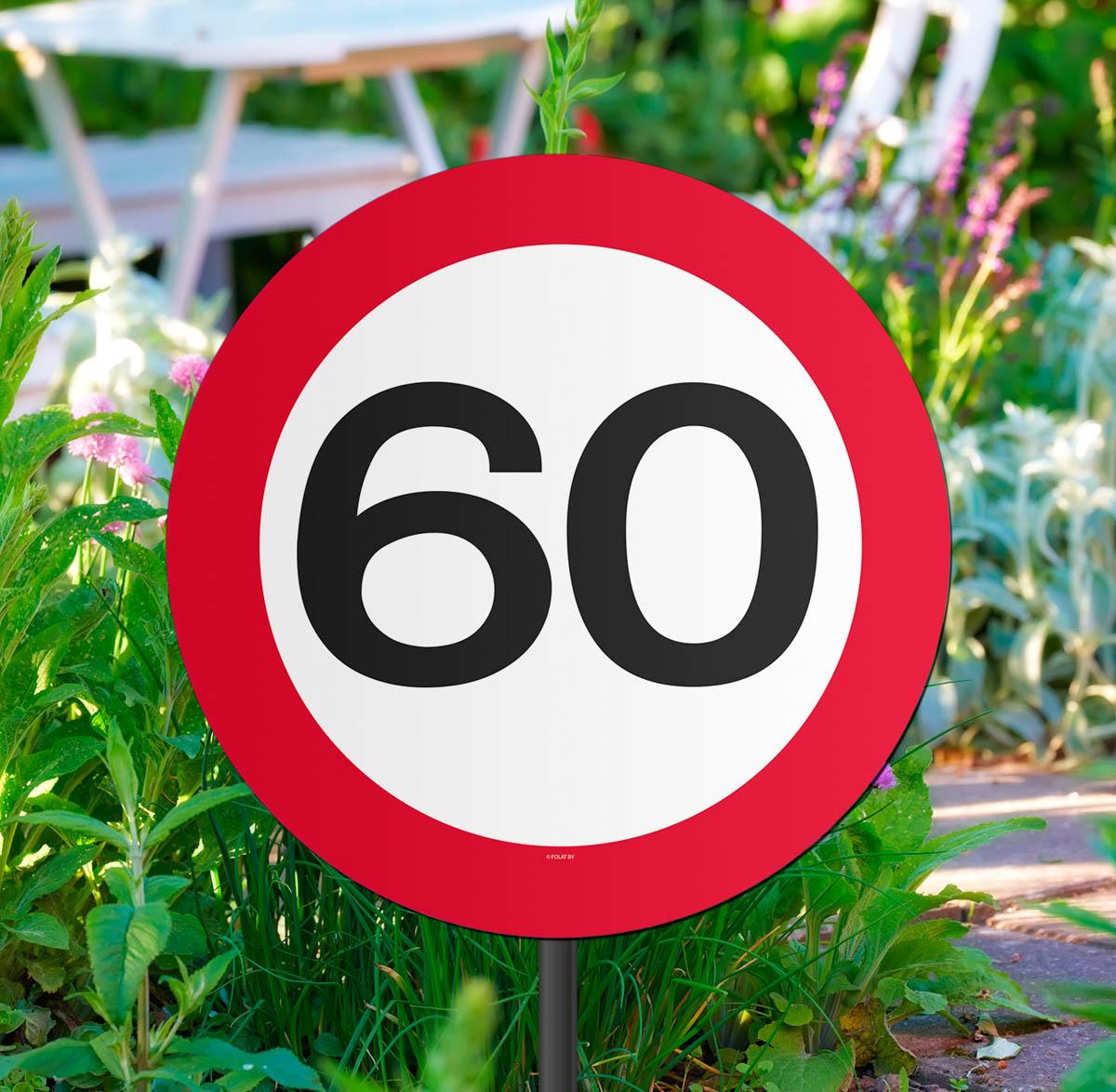 Gartenstecker Verkehrsschild 60 Geburtstag Carina Geschenke Ch