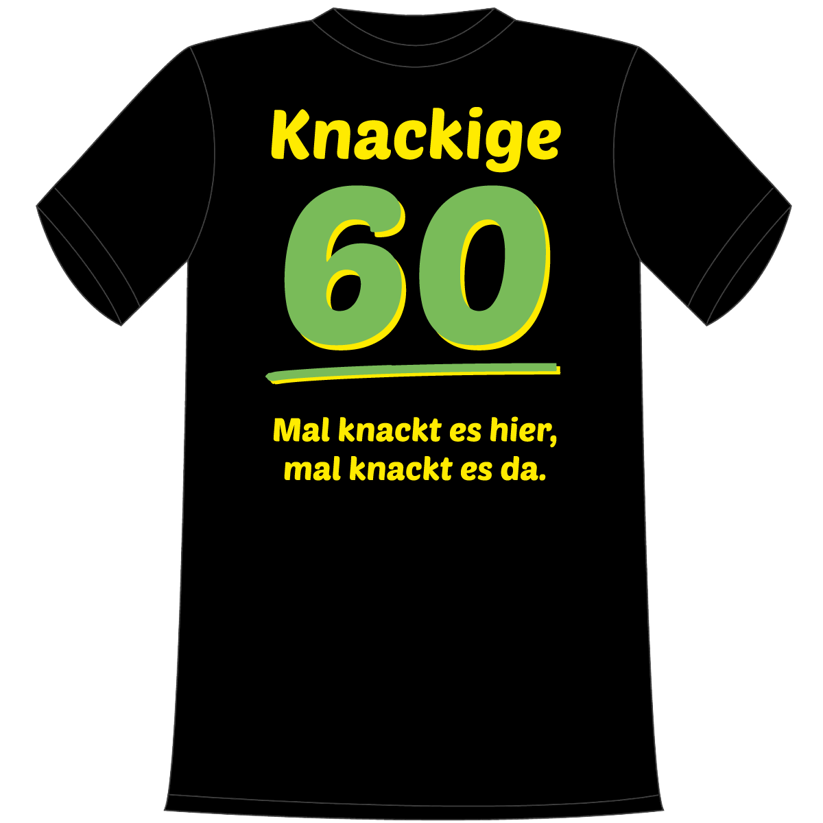 Knackige 60 t shirt geschenk online shop carina for Geschenk zum 60 mutter