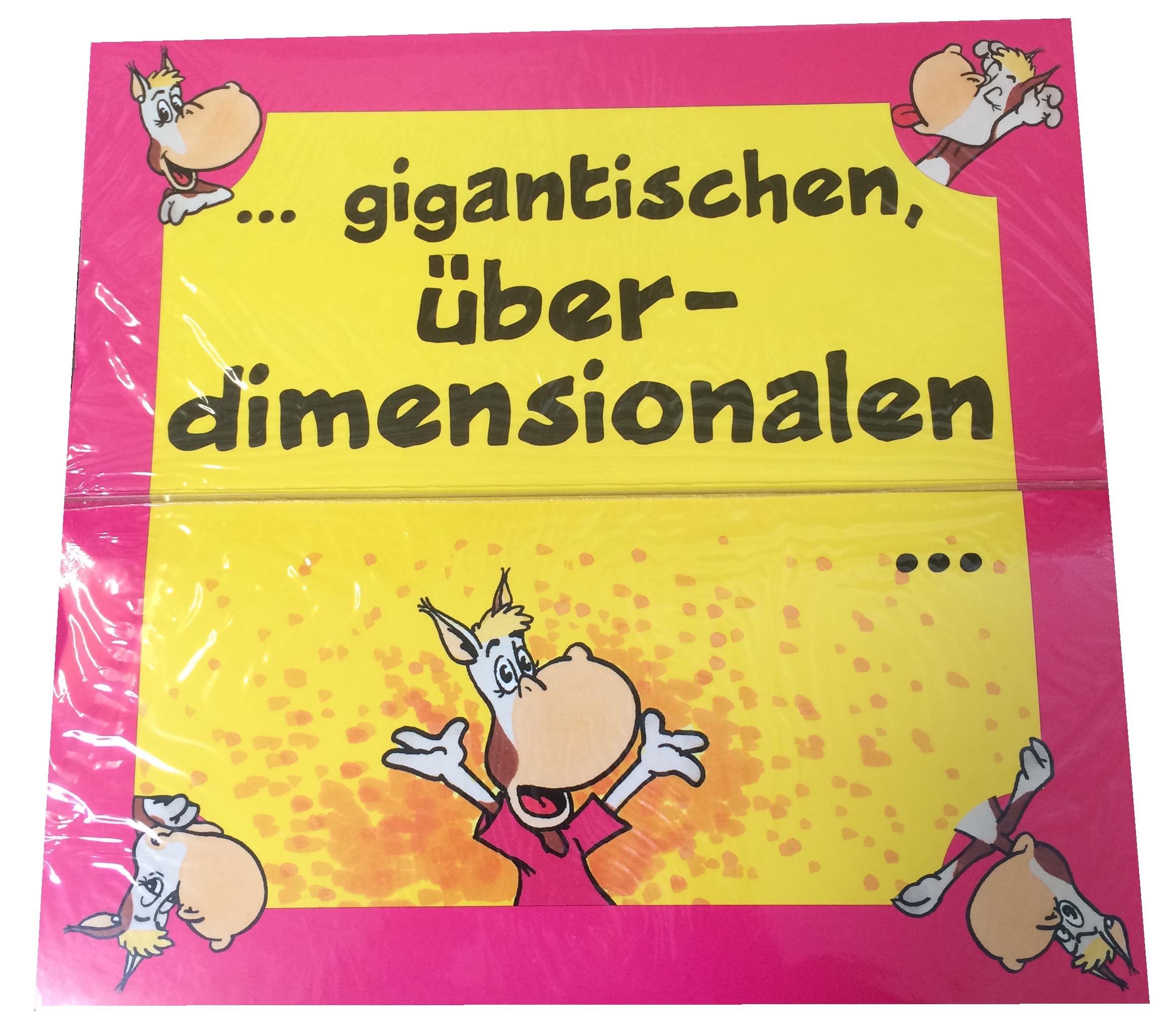 Riesen Glückwunsch Geburtstagskarte   carina geschenke.ch