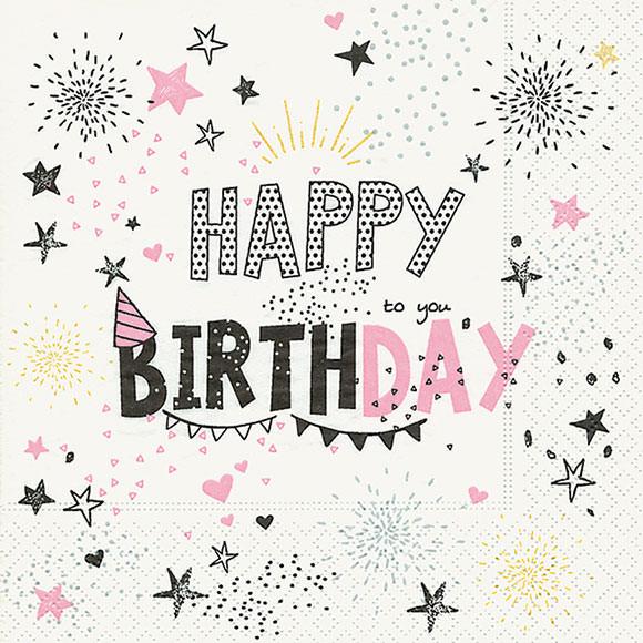 Happy Birthday Girl Serviette Carina Geschenke Ch