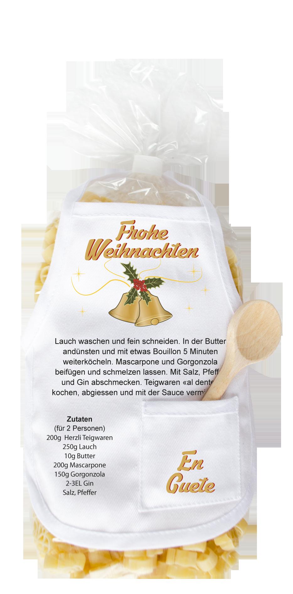 Frohe Weihnachten Pasta Glocken - carina-geschenke.ch
