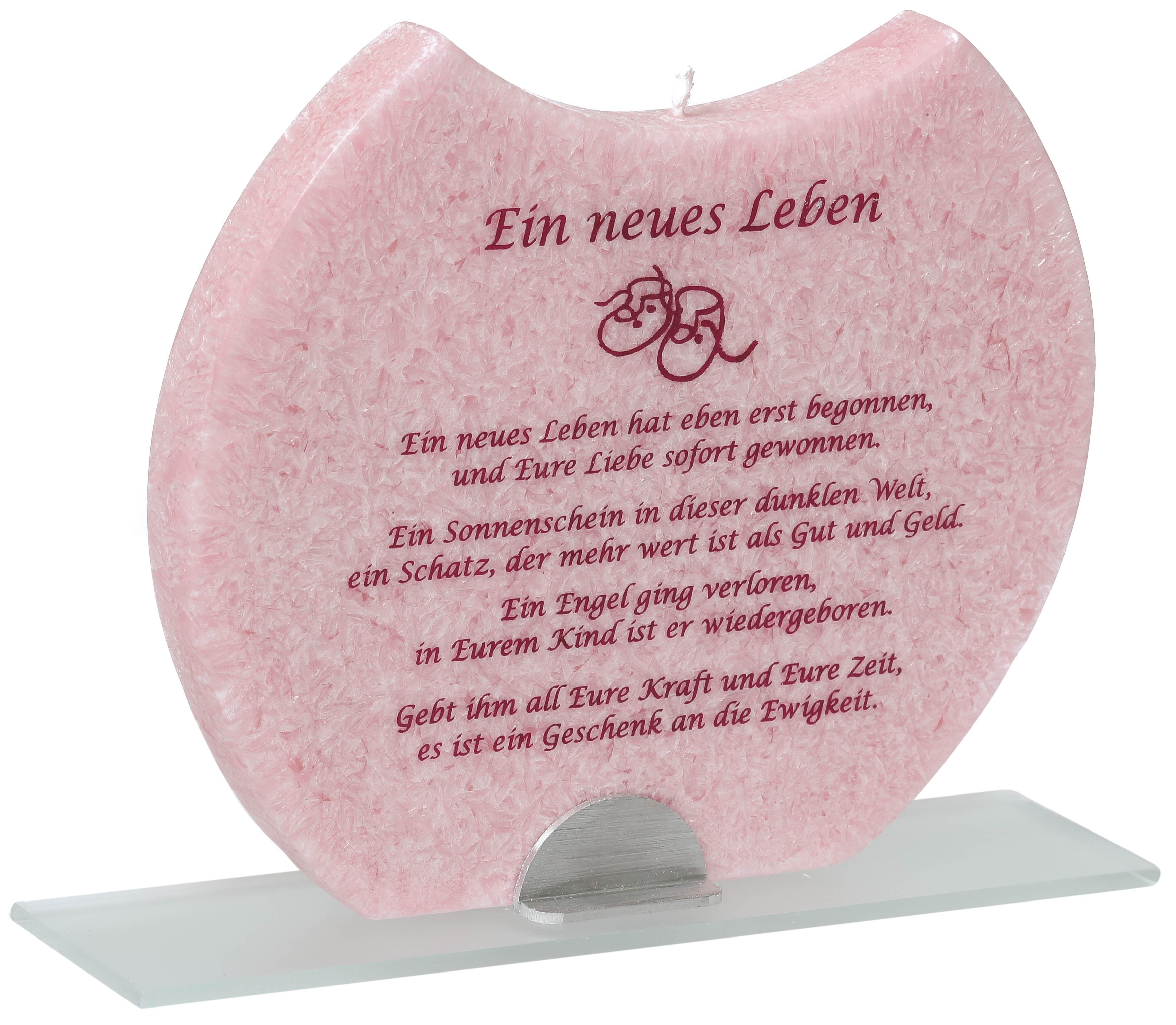 Geburt Mädchen Kerze Carina Geschenkech