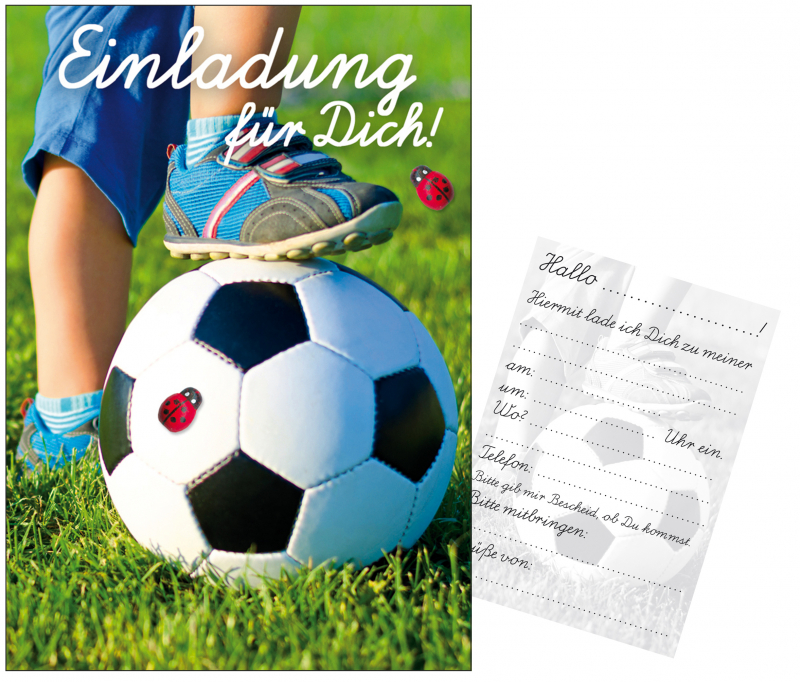 einladungskarten fussball - geschenkexpress.ch