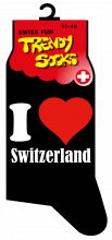Socken I Love Switzerland