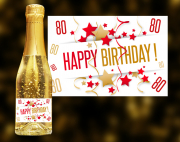 Happy Birthday 80 Goldsekt