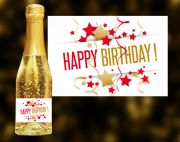 Happy Birthday Goldsekt (Konfetti)