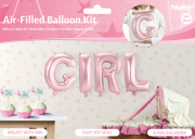 GIRL Folienballon Set