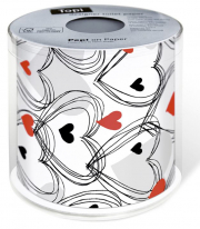 Shower of Hearts Herz WC-Papier
