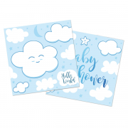 Boy Babyshower Servietten blau
